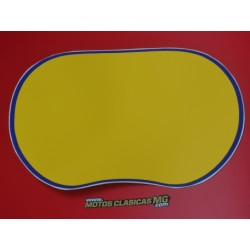 montesa enduro H7 80 125 250 y 360 adhesivo del porta faro amarillo con borde azul
