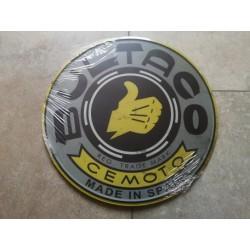 bultaco placa decorativa gris envejecida de 30 cm