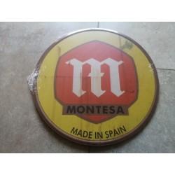 montesa placa decorativa envejecida de chapa de 30 cm