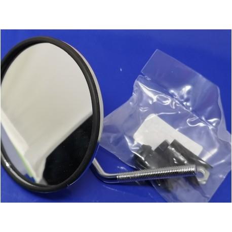 espejo de puño cromado metalico izquierdo homologado diametro 105 mm