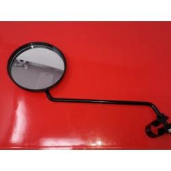 espejo redondo de manillar  negro derecho e izquierdo diametro 105 ,,
