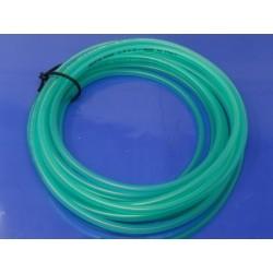 tubo de gasolina verde transparente que no se endurece medidas de 4,5 x 9 mm  precio por metro