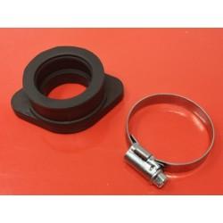 bultaco goma de admision para acoplar un carburador mikuni o dell`orto