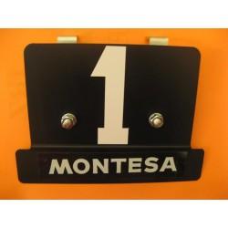 montesa, Cota 25, placa delantera con soportes y adhesivos
