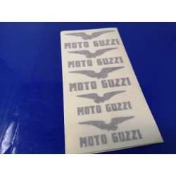 moto guzzi  juego de 5 emblemas adhesivos
