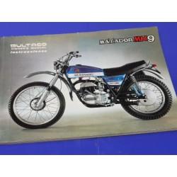 bultaco matador Mk9 manual del usuario original
