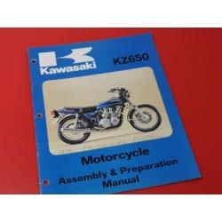 kawasaki KZ650 manual de montaje en ingles