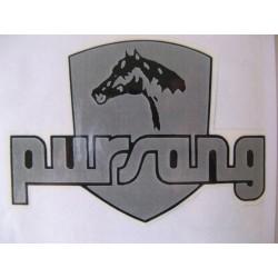 bultaco pursang adhesivo gris-negro ( 9 x 6,5 )