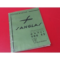 sanglas 500 S2 libro de usuario original en ingles