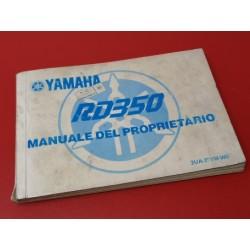 yamaha RD 350 libro de usuario o mantenimiento original