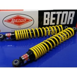 amortiguadores para moto de trial de 34 cm y 5 precargas negro con muelle amarillo