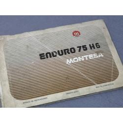 montesa enduro 75 H6 libro de mantenimiento original
