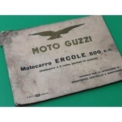 moto guzzi ercole motocarro  libro de reparaciones original