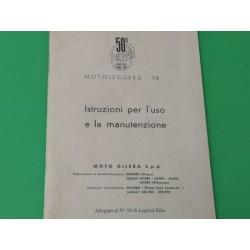 gilera 98 libro de mantenimiento original
