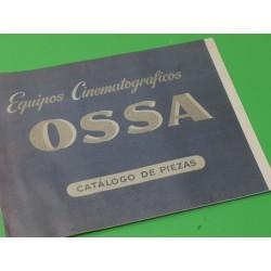 ossa equipos cinematograficos catalogo de piezas original