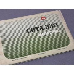 montesa cota 330 libro de mantenimiento original