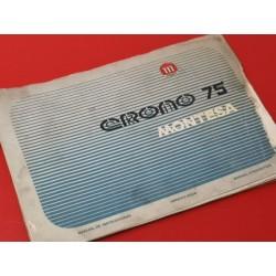 montesa crono 75 libro de mantenimiento original