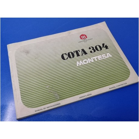 montesa cota 304 libro de mantenimiento original