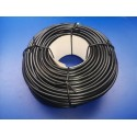 funda de cable electrico negra de 8 milimetros