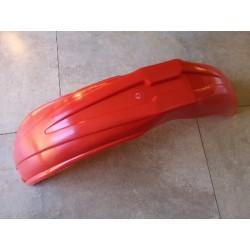 guardabarros delantero de moto enduro y cross ventilado rojo
