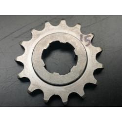 bultaco piñon de cadena Z15 eje 25 mm con arandela para cadena de 428