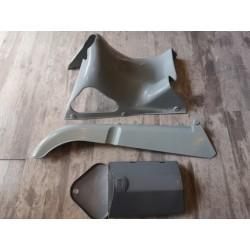montesa impala y otras carcasa de debajo del asiento con cubrecadena y caja de herramientas con tapa en plastico gris