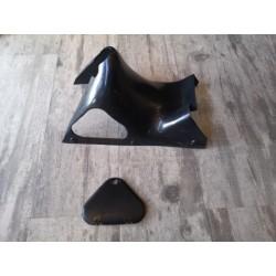 montesa impala y otras carcasa de debajo del asiento y tapa de la caja de herramientas en plastico negro