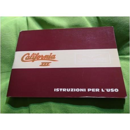 moto guzzi california III libro de mantenimiento original nuevo