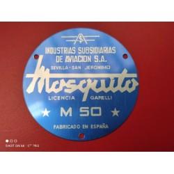 mosquito M50 emblema azul del motor
