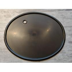 porta numero negro con agujero pasacable