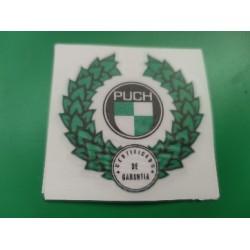 puch adhesivo de certificado de garantia de encima del deposito