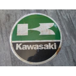 kawasaki chapa decorativa envejecida de 30 centimetros de diametro