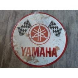 yamaha chapa decorativa envejecida de 30 centimetros de diametro