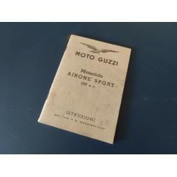 moto guzzi airone sport libro de mantenimiento original