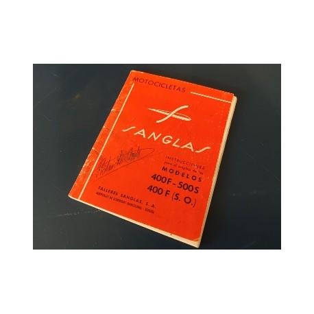sanglas 400f y 500s y 400F servicio oficial libro de mantenimiento original