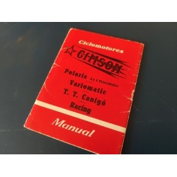 gimson polaris variomatic canigo racing libro de mantenimiento original