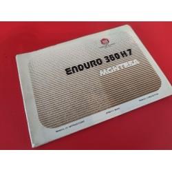montesa enduro 360 H7 libro de mantenimiento original
