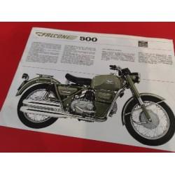 moto guzzi falcone 500 militar folleto publicitario original