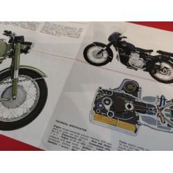 moto guzzi falcone 500 militar triptico publicitario original