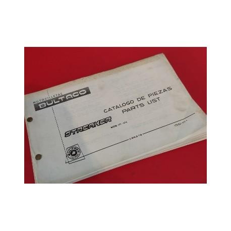 bultaco streaker libro de despiece original