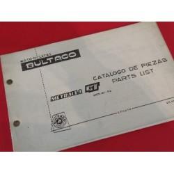 bultaco metralla GT y GTS libro de despiece original