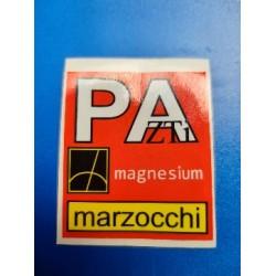 horquilla marzocchi de magnesio pegatina de la botella