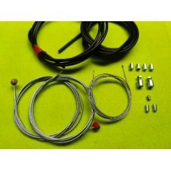 juego de 3 cables universales completos de acelerador embrague y freno con camisas y terminales