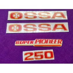 ossa super pioneer 250 verde juego de adhesivos