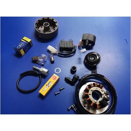 bultaco mercurio y campera modelos 7 y 9 encendido electronico completo transforma la moto a 12 voltios