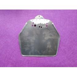 bultaco mercurio y otras porta matrícula de chapa con refuerzo posterior