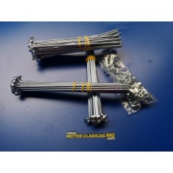 bultaco alpina 250 y 350 modelos 137 138n165 166 187 188 212 y 213 juego de radios de las 2 ruedas
