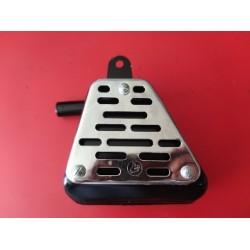 bultaco sherpa kit campeon modelos 80 91 92 124 y 125 silenciador con rejilla cromada