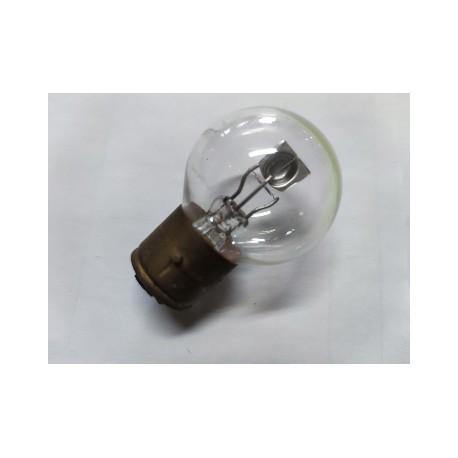 bombilla de faro esferica de 6 voltios y 25 watios casquillo de 21 milimetros y 3 tetones