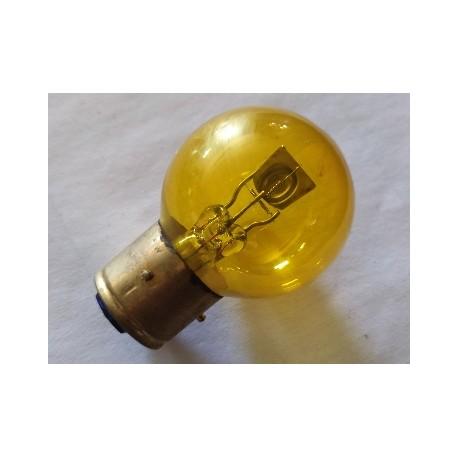 bombilla de faro de 6 voltios 35-35 watios cristal esferico amarillo casquillo de 21 milimetros con 3 tetones